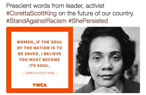 Photo image courtesy of the YWCA USA's Twitter feed